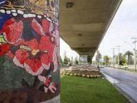 Mural de mosaicos en Puente Alto. © Andrea Manuschevich para Plataforma Urbana.