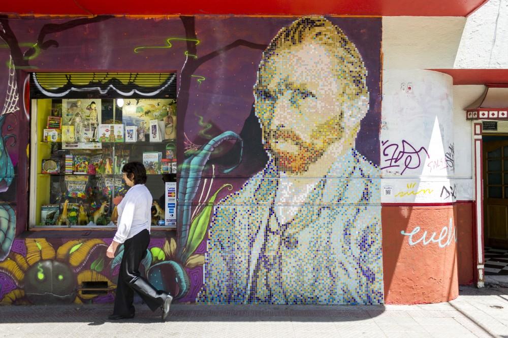 Pixel Art Van Gogh Andrea Manuschevich para Plataforma Urbana