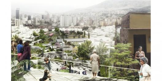 Terrazas en barrio El Salvador. Image Cortesia de Equipo Primer Lugar