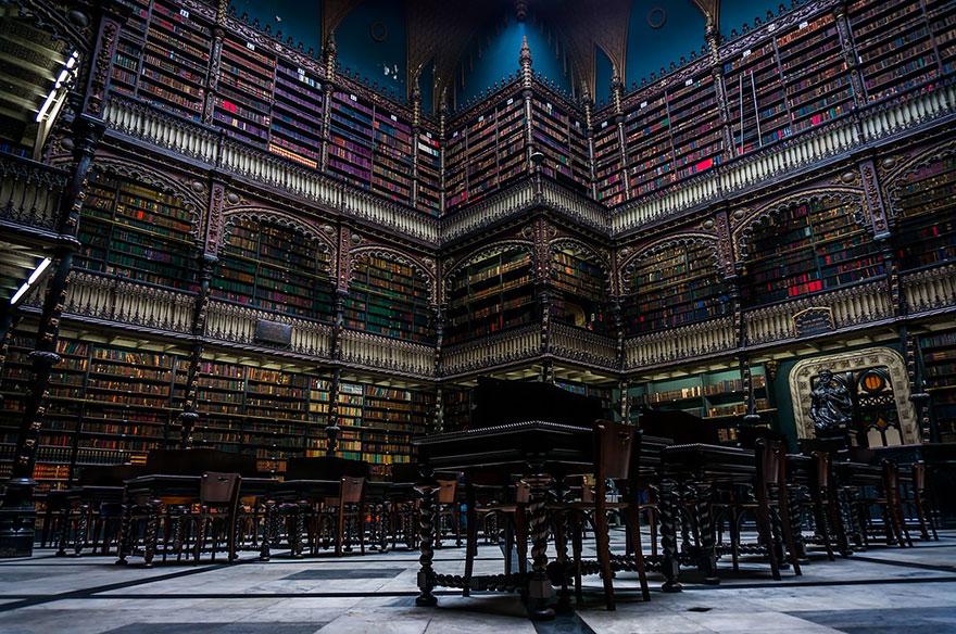 biblioteca real gabinete portugues de lectura rio de janeiro brasil