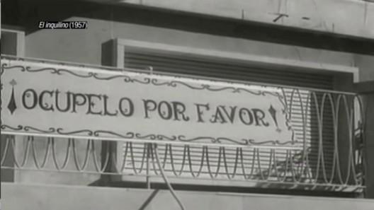 """""""El Inquilino"""" (1957). Image Cortesia de Cortometraje 'Ficción Inmobiliaria'"""