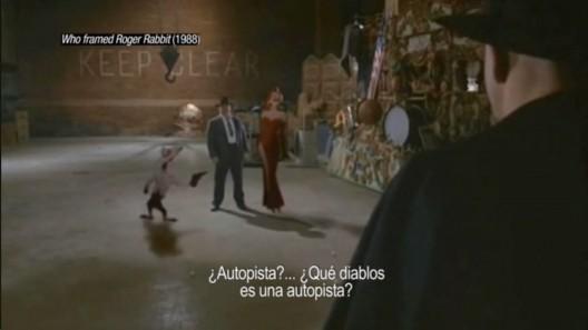 """""""Who framed Roger Rabbit"""" (1988). Image Cortesia de Cortometraje 'Ficción Inmobiliaria'"""
