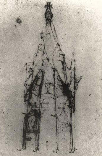 Croquis de la Capilla de Nuestra Señora de los Ángeles. Image © Corporación Gaudí de Triana