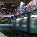 Mural Vida y Trabajo Metro Parque Bustamante Alejandro Mono Gonzalez Andrea Manuschevich para Plataforma Urbana 3