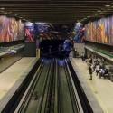 Mural Vida y Trabajo Metro Parque Bustamante Alejandro Mono Gonzalez Andrea Manuschevich para Plataforma Urbana 4