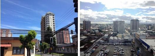 Condominios 'verticales' surgen en el centro por sobre el primitivo zócalo residencial.. Imagen Cortesía de Miguel Gómez Villarino