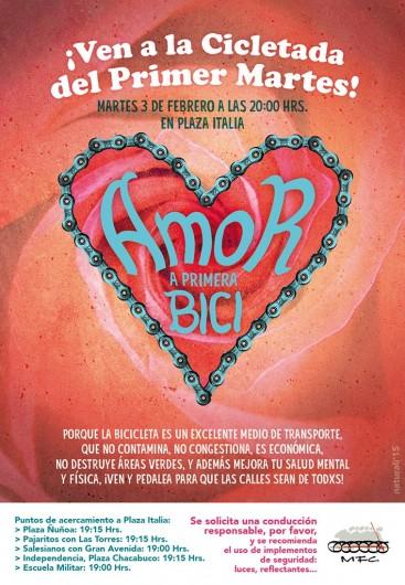 afiche cicletada primer martes febrero 2015
