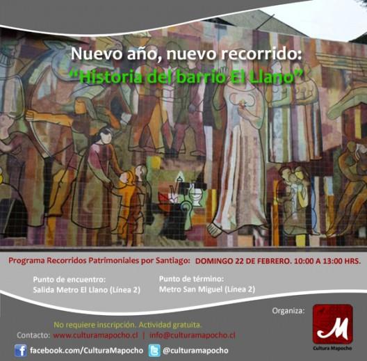 afiche cultura mapocho enero 2015 historia del barrio el llano