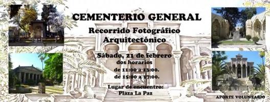afiche recorrido fotografico cementerio general