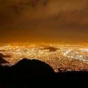 santiago de chile de noche contaminacion luminica