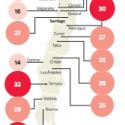 contaminacion ciudades chile