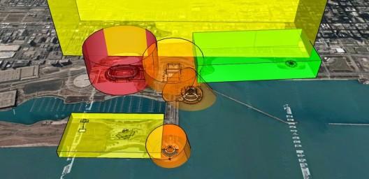 El post en el blog de Mitchell Sipus propone una zonificación invisible y de regulación automática para drones. Imagen cortesía de Mitchell Sipus