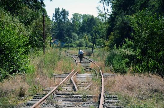 Vía del ferrocarril, corredor verde de Collico / Foto por: Sebastián Sattlegger