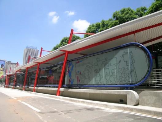 Estación de BRT en Johannesburgo, Sudáfrica.