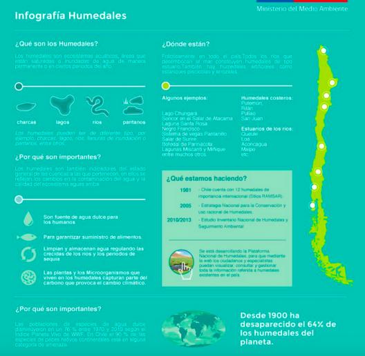infografia humedales dia internacional de los humedales mma chile