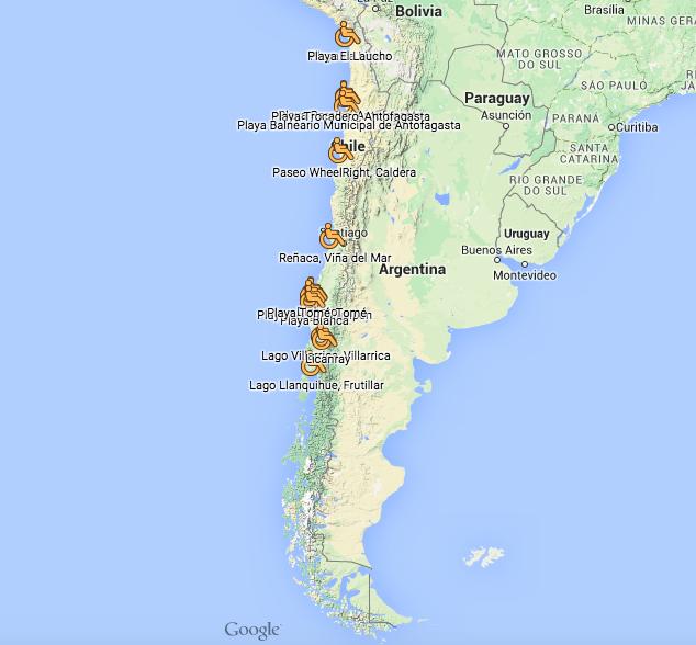 Mapa De Playas Y Balnearios Inclusivos De Chile on 2015 02 12 Archive