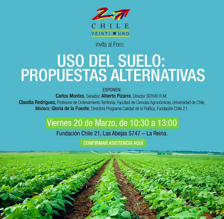 afiche foro uso del suelo propuestas alternativas chile 21