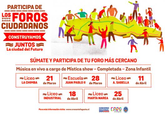 afiche foros ciudadanos creo antofagasta