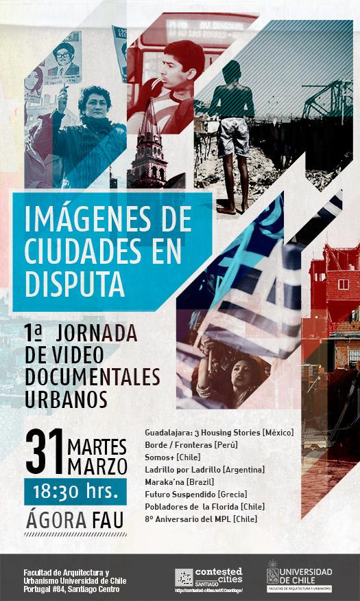 afiche imagenes en disputa jornada de documentales urbanos