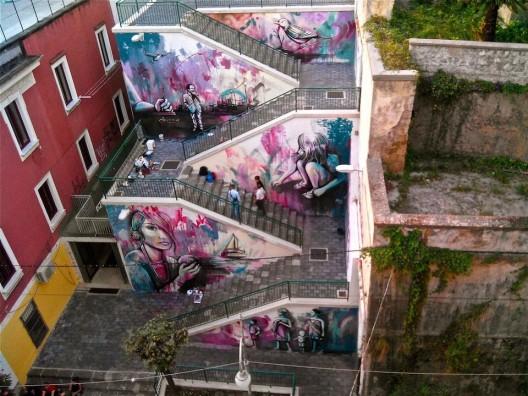 Alice Pasquini para la Fundacion Alfonso Gatto en Salerno Italia