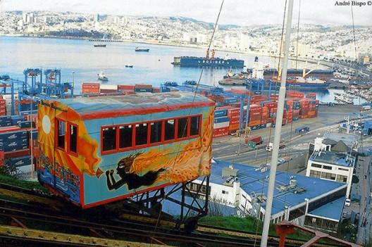 Ascensor Artillería, Valparaíso. © André Bispo, vía Flickr.