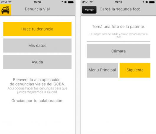 BA Denuncia Vial. Fuente: App Store.