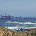 Puerto de Minera Los Pelambres, en Los Vilos