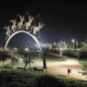parque bicentenario iluminacion