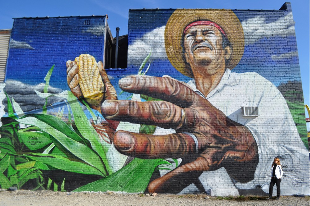 """""""Mano de obra campesina"""" en Detroit, EE.UU."""