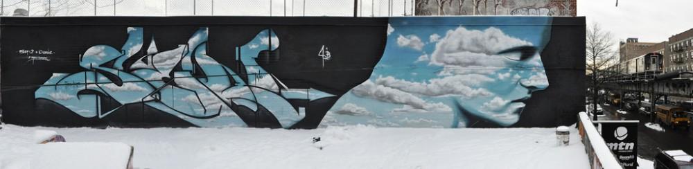 Mural de Sen2 y Dasic en Nueva York.