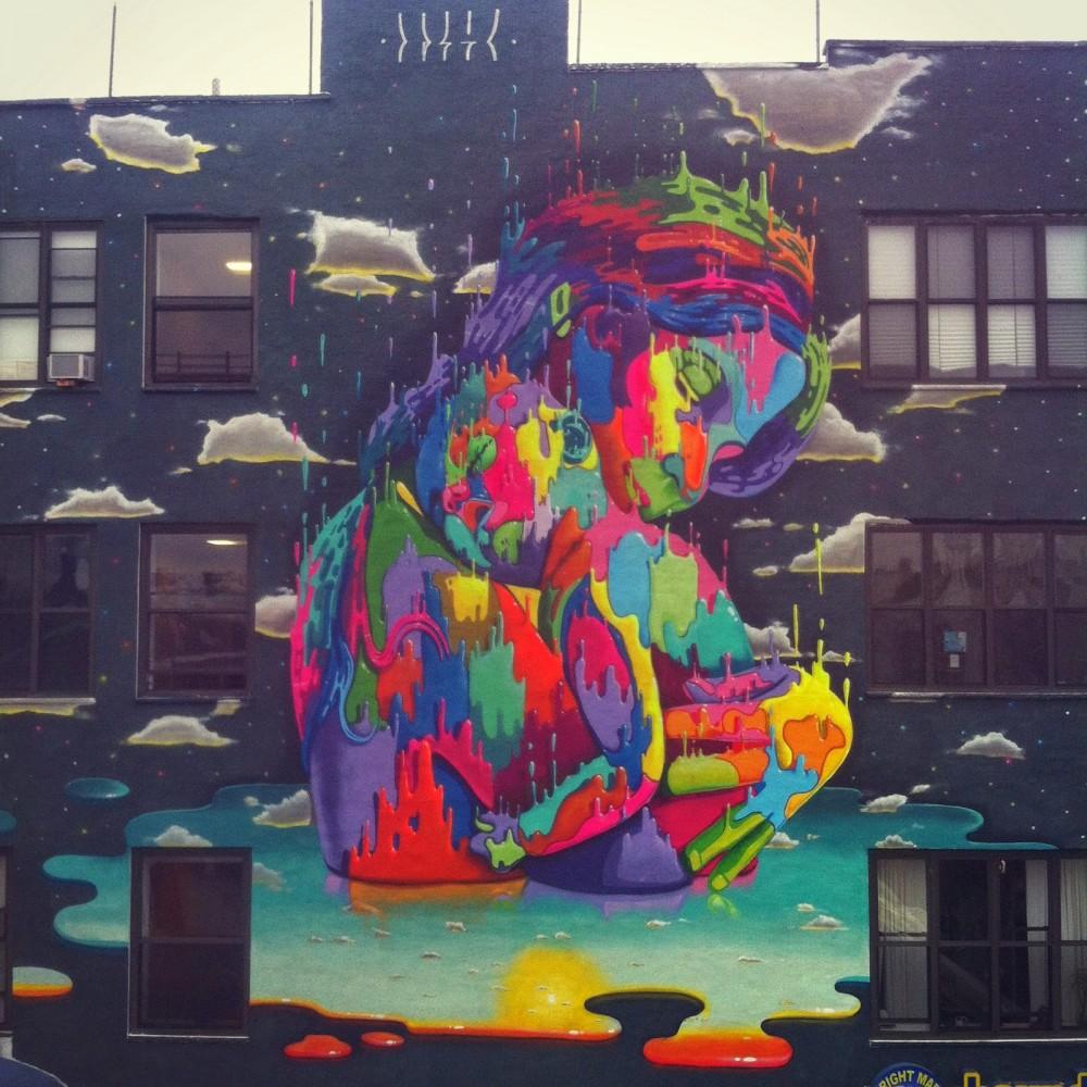 """""""Virgen e hijo"""" en Brooklyn, Nueva York."""