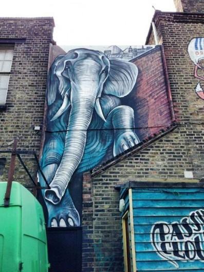 elefante por Shaun Burner en Londres UK