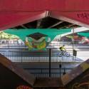 Estan Pintando Mural en Escuela Militar Paso Sobre Nivel 5