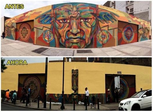 "Mural ""Tupak Katari"", Lima. Image Imagen vía Fan Page Guache"
