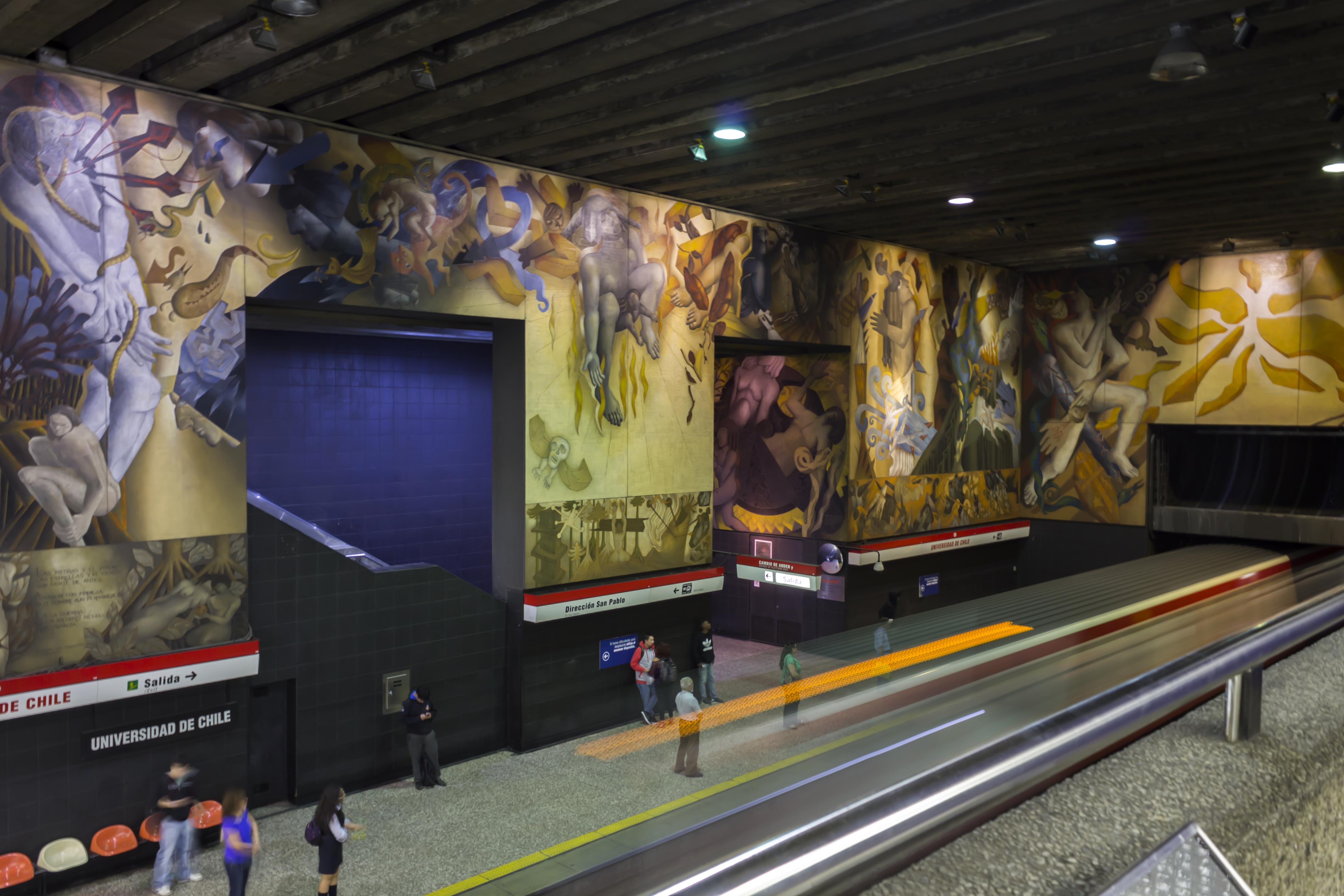 Mario toral memoria visual de una nacion andrea for Mural metro u de chile