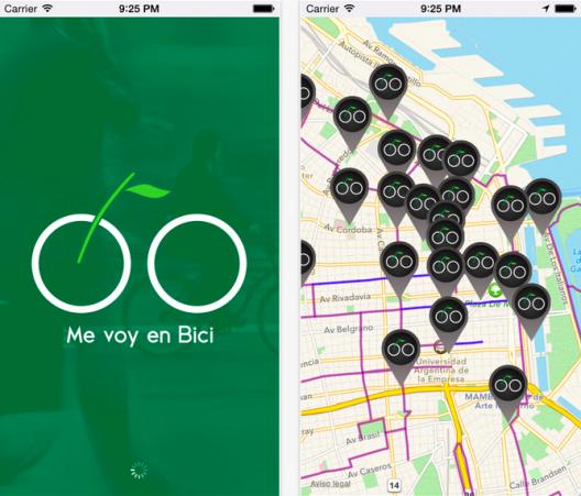 Me Voy en Bici. Fuente: App Store.