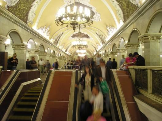 Metro de Moscú. © xjason.rogersx, vía Flickr.