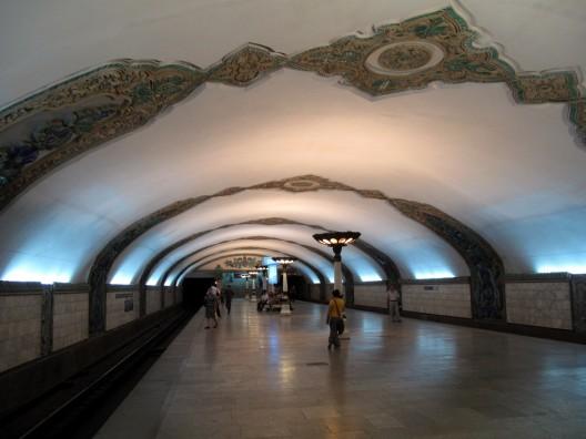 Metro de  Tashkent. © peretzp, vía Flickr.