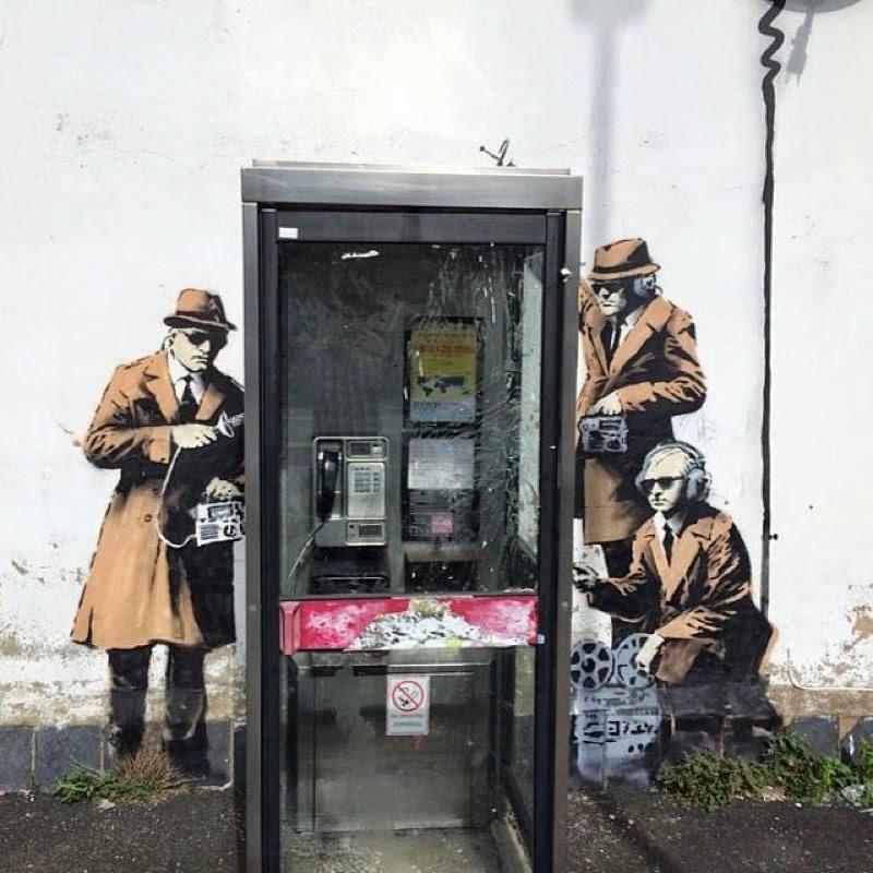 por Banksy en Cheltenham UK