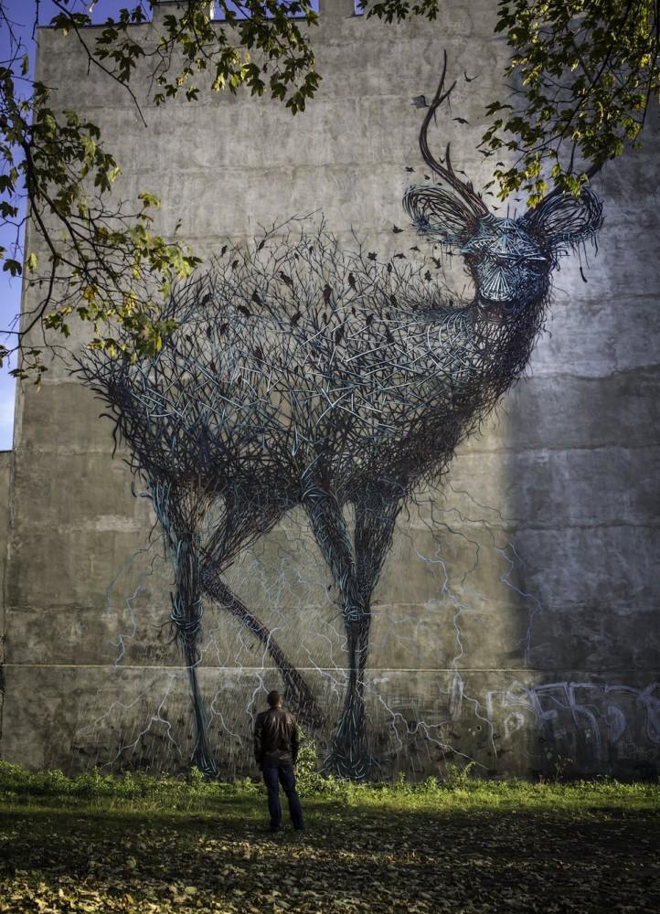 por DALeast en Lodz Polonia para la Galeria Urban Forms