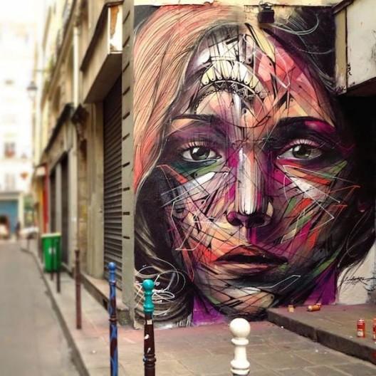 Mural realizado por Hopare en París, Francia.