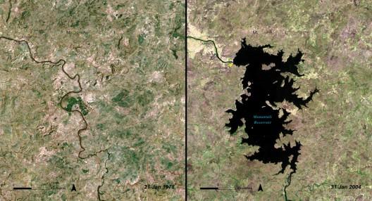 Fuente: Imágenes del Cambio, Nasa. (Programa de las Naciones Unidas para el Medio Ambiente (PNUMA) . De Lagos de África (2006); División de Evaluación y Alerta Temprana (DEAT), el PNUMA, Nairobi, Kenia.)