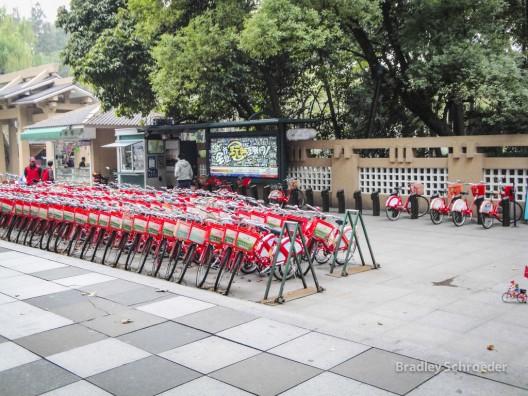 Sistema de bicicletas públicas de Hangzhou, China. © Bradley Schroeder, vía Flickr.