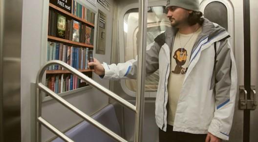 """""""Underground Library"""" en el Metro de Miami. Fuente imagen: Design Taxi"""