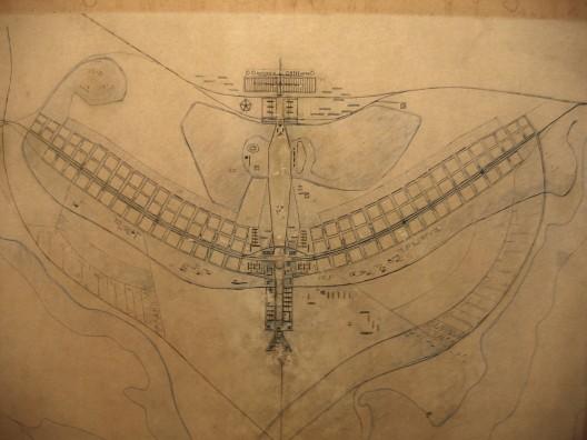 Planos originales para Brasilia. Imagen cortesía de O Espaço Lúcio Costa
