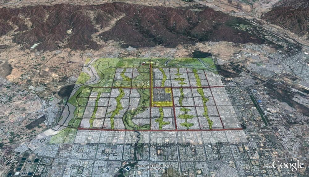 Vista aérea de Chandigargh. Imagen cortesía de Chandigarh Urban Lab, University of Washington en Google Earth original