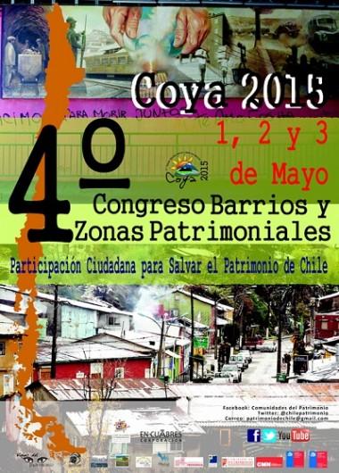 Afiche 4 Congreso de barrios y zonas patrimoniales