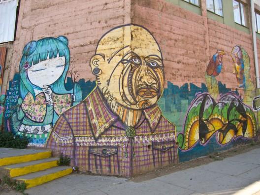 calle ecuador Bisy, Charquipunk, Julieta, La Robot de Madera, El Odio, XLF por Kjetilei via flickr