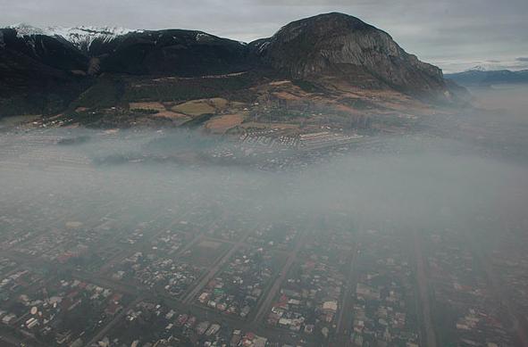coyhaique contaminacion atmosferica