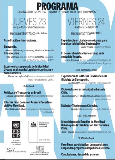 Programa seminario movilidad